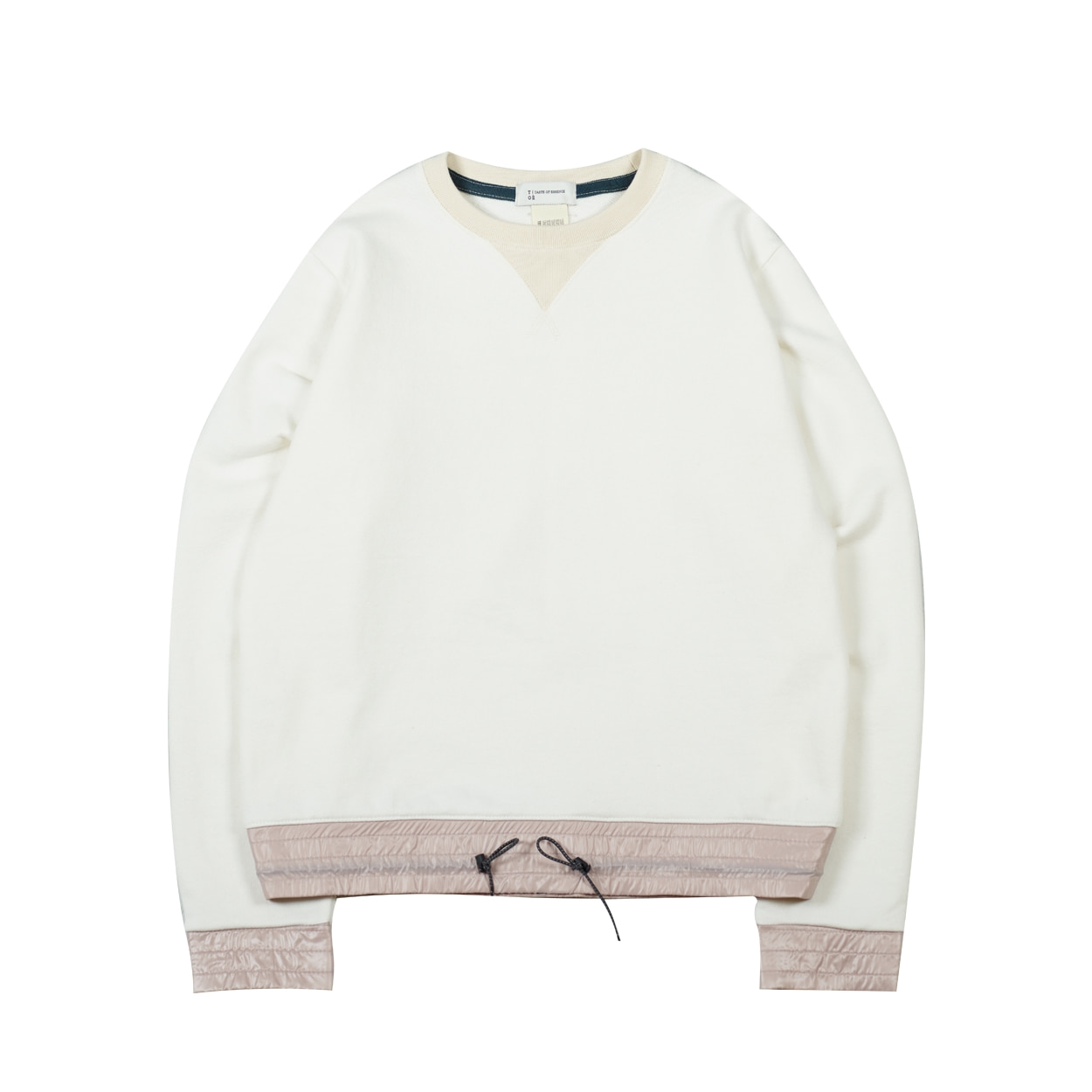 COLOR BLOCK SWEATSHIRT - IVORY